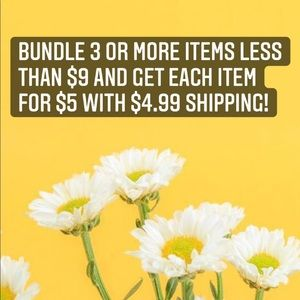 Bundle 3 or more and get each item for $5 w/ $4.99